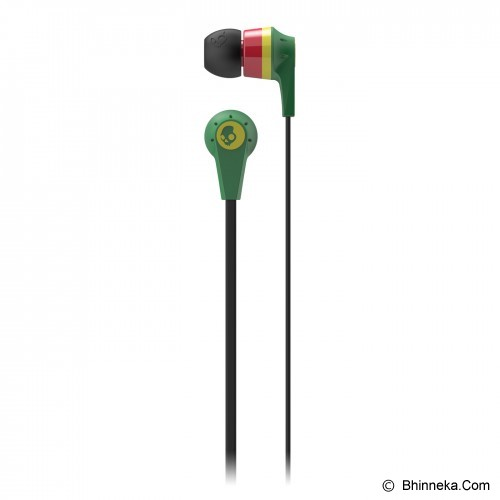 SKULLCANDY Ink'D 2.0 In-Ear [S2IKDZ-058] - Rasta/Red/Green - Earphone Ear Monitor / Iem